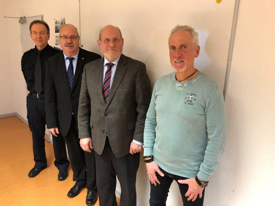 Rüdiger Kauroff beim Polizeikommissariat Wedemark/Mellendorf